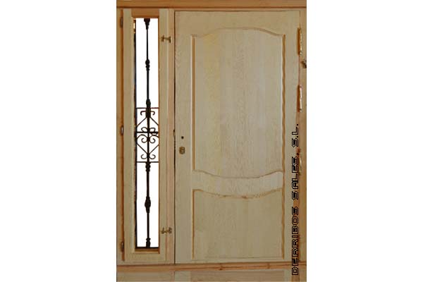 1 8 3 puerta mod provenzal con fijo forja derribos sales - Puertas de calle de madera ...