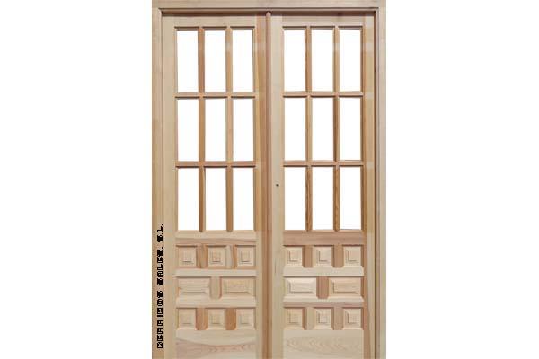 2 2 puerta mod castellana derribos sales for Puertas doble hoja interior madera