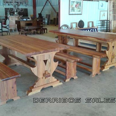 mesas de madera maciza de mobila ideales para bodegas, salones rusticos, barbacoas, paelleros,....