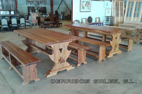 Mesas de mobila derribos sales for Tejado madera maciza