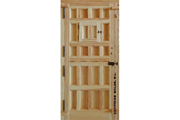 puerta partida, de madera maciza