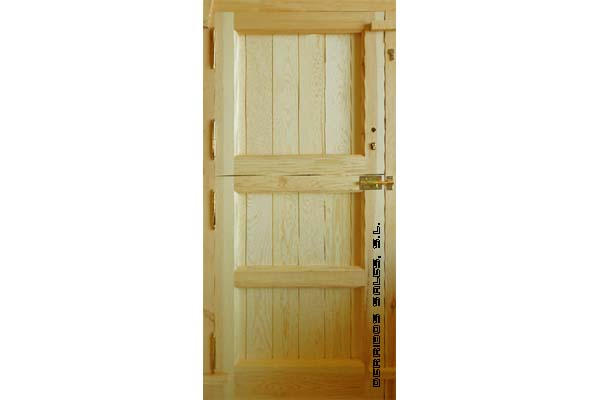 puerta de madera maciza, para calle