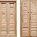 puertas para balcon de madera maciza