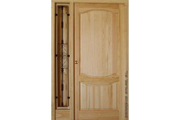 puerta maciza de calle con bisagras antipalanca