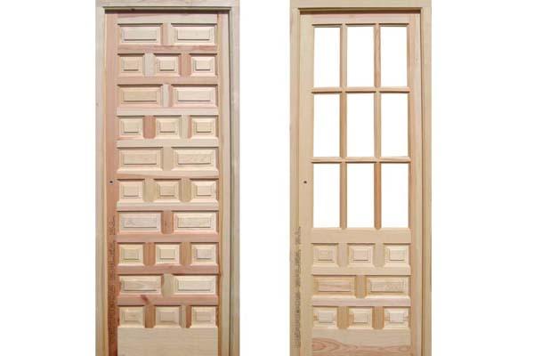 puerta de interior de grosor de hoja 3,5 cm.