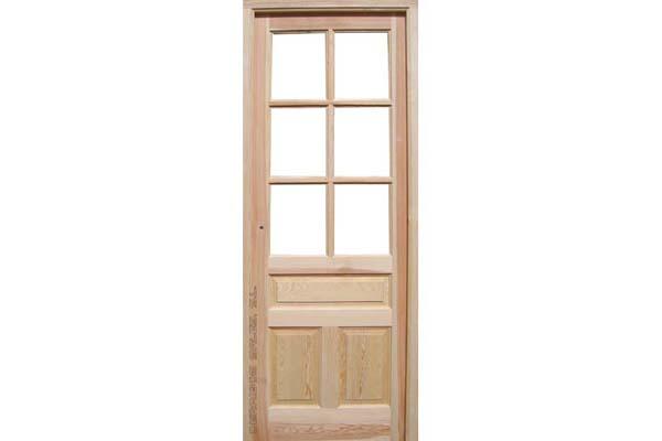 puerta de interior de madera maciza, modelo de 5 cinco cuarterones