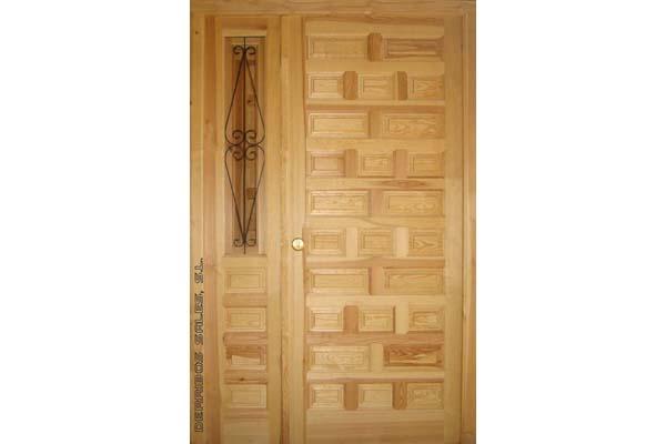 puerta castellana con fijo
