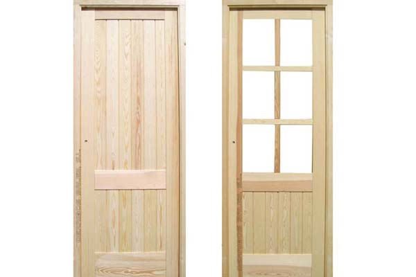 puerta de interior de madera maciza
