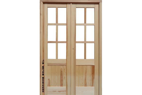 2 5 puerta mod machiembrada derribos sales - Puertas interior cristal ...