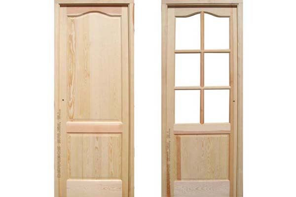 puerta de madera de interior de 3,5 cm. de grosor