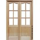 puerta de interior, maciza, de madera de pino.