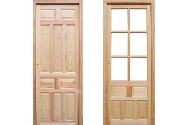puertas de interior de madera maciza de pino