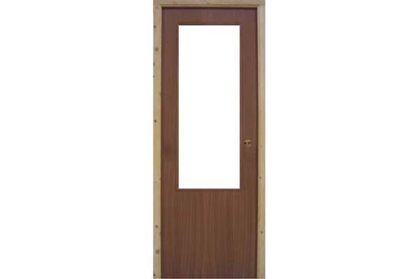 Puerta de interior Mod. SAPELLY. Hoja de 3,5 cm. de grosor. Con marco directo incluido de 7 x 6 cm. Abisagrada. Las puertas sapely están disponibles en 210 x 72 y 210 x 82 cm. y en 210 x 92,5 cm. También cristaleras de 210 x 82 y 210 x 92 cm.