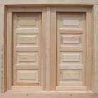 ventanas de madera aislantes, abatibles. con contraventanas interiores