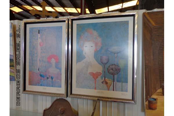 antiguedades-cuadro-laminas-modernistas