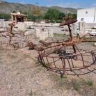 norias antiguas de agua, de hierro