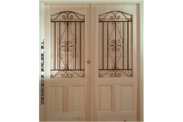 Puertas macizas de madera fabricadas en medidas especiales, para salón. Con fijo, o 2 hojas, con o sin montante, con o sin cerradura,...