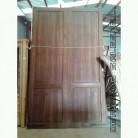 porton de madera de mobila. Antigua.
