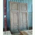puerta con porton peatonal de madera de mobila