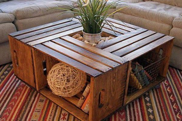 cajones de madera para realizar una mesa