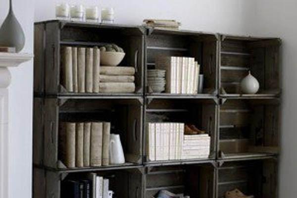 cajones de madera para la realizacion de estanterias