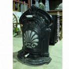 Antigua estufa de hierro.