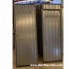 puertas de chapa ideales para trastero. restos de fábrica. 200 x 80 - 180 x 70 cm.